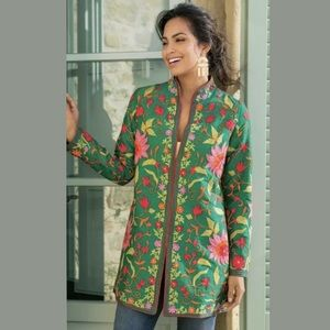 Soft Surroundings NWOT Floral Embroidered Jacket